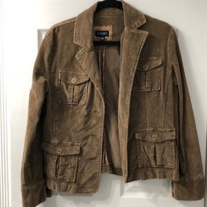 Sonoma brown cotton/spandex corduroy casual jacket